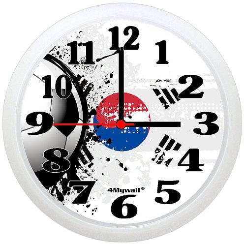 South Korea Football Wall Clock