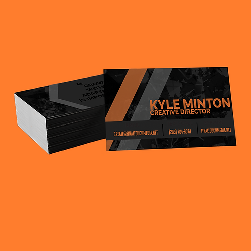 Business Card Design + Order (FRONT AND BACK)