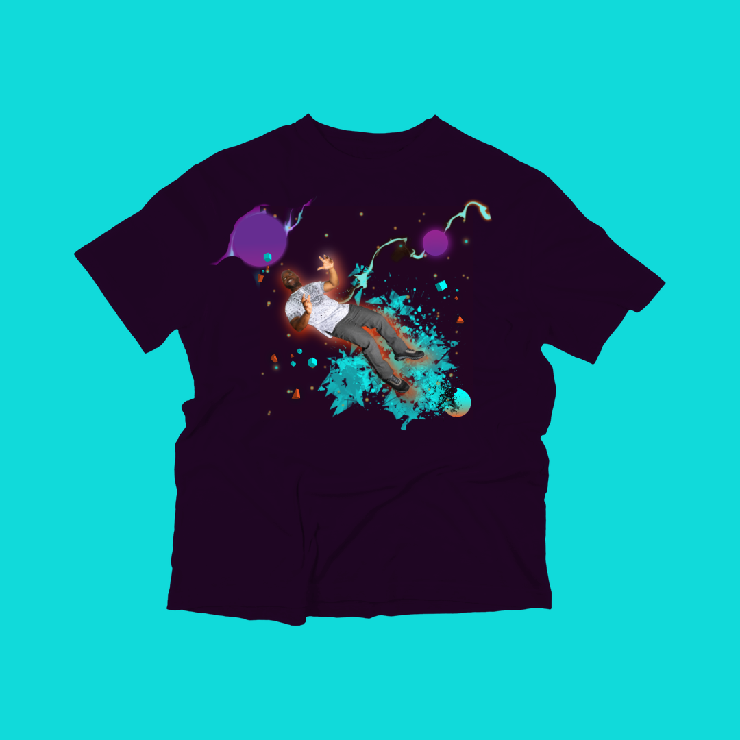 gotaflika maroon space shirt