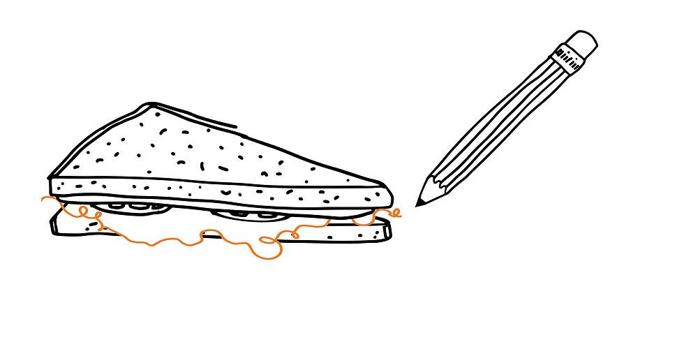 Spis og tegn I Lunch and draw