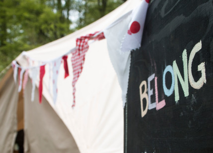 Our beautiful Belle Tent and bunting