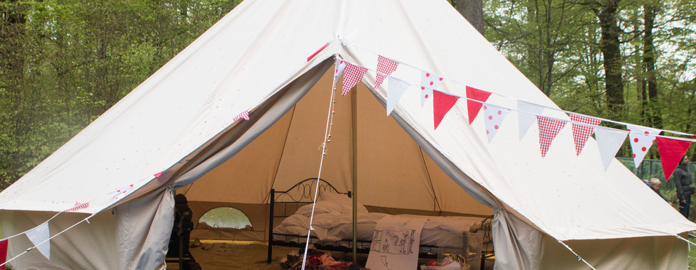 The Belle Tent and Bed appear in the Forest