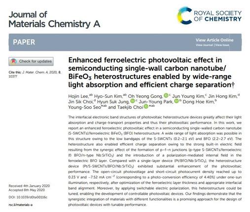 이호진(박사과정) Journal of Materials Chemistry A 논문 등재