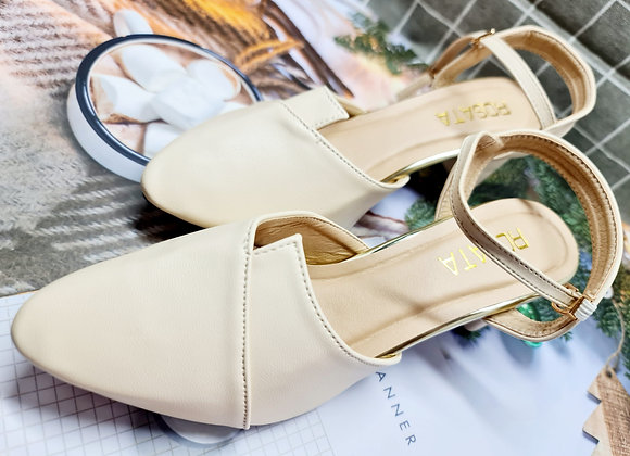 [DRMS-001] Giày sandal nữ mũi nhọn gót vuông