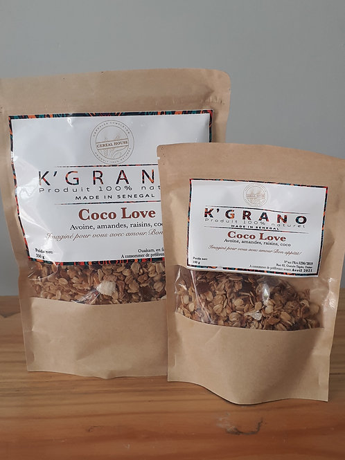 """Granola cereal house """"coco love"""" (format 100g)"""