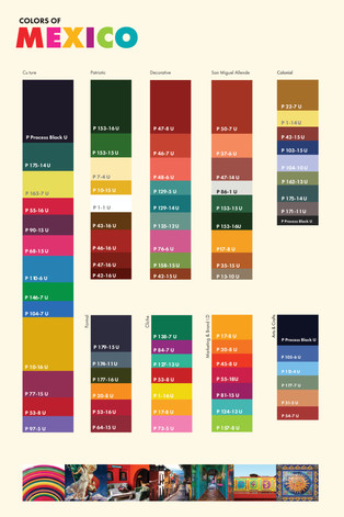 Colors of Mexico Infographic