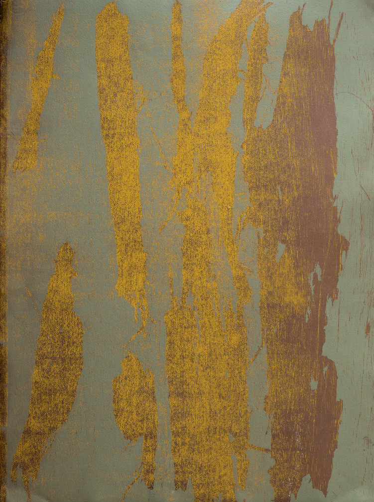 Synergy - Evening. Monotype, stencils 76x56cm