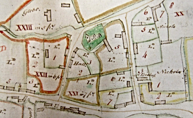 Mid 19th Century map of Denton