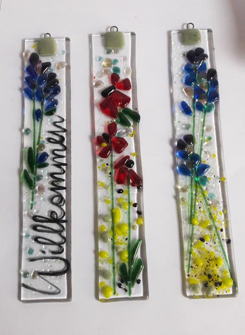 Wanddekoration aus Glas