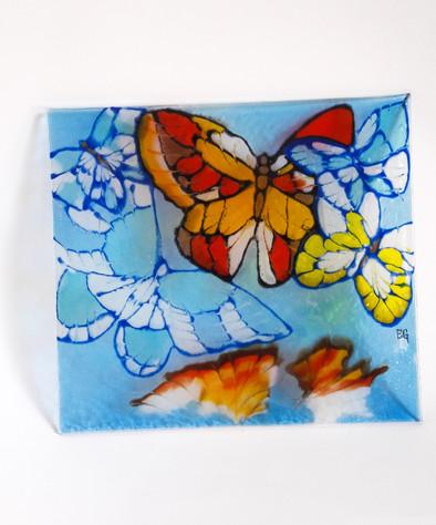Glasmalerei Größe 21 x 23 cm   EUR 62,70,-