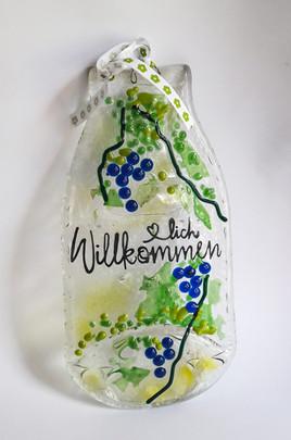NEUE Dekoschild aus Milchflasche