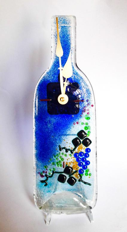 Uhr aus Weinflasche batteriebetrieben (Lieferung ohne Batterie)