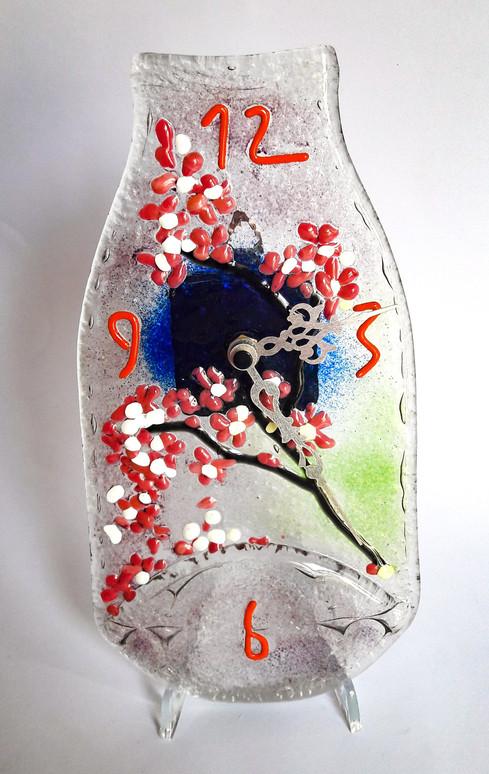 Uhr aus Milchflasche batteriebetrieben (Lieferung ohne Batterie)