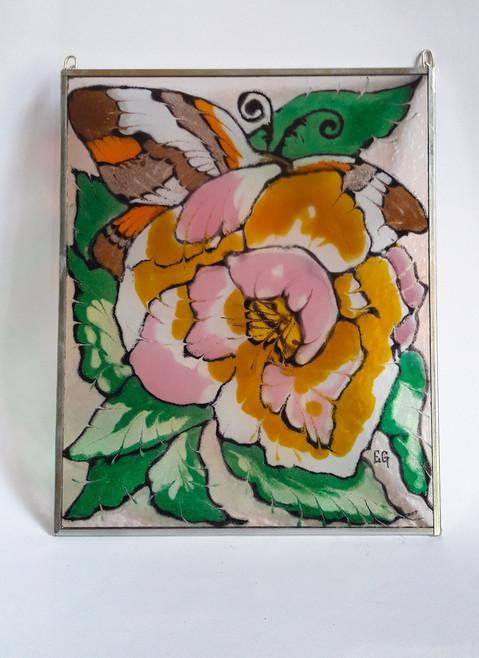 Glasmalerei Größe 21 x 25 cm   EUR 63,60,-