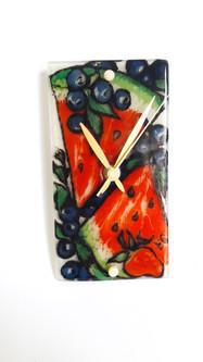Uhr Wassermelone batteriebetrieben (Lieferung ohne Batterie)