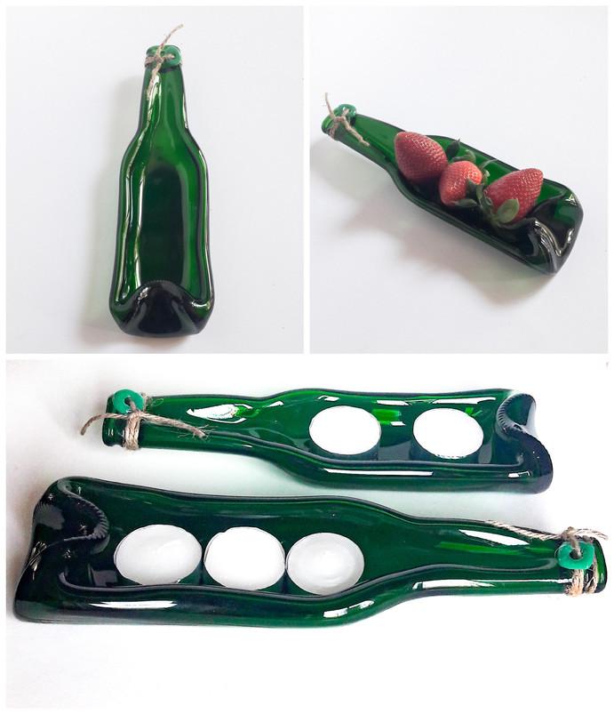 Bierflasche als Dekoration oder Schale verwendbar