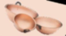 Bol cul de poule cuivre