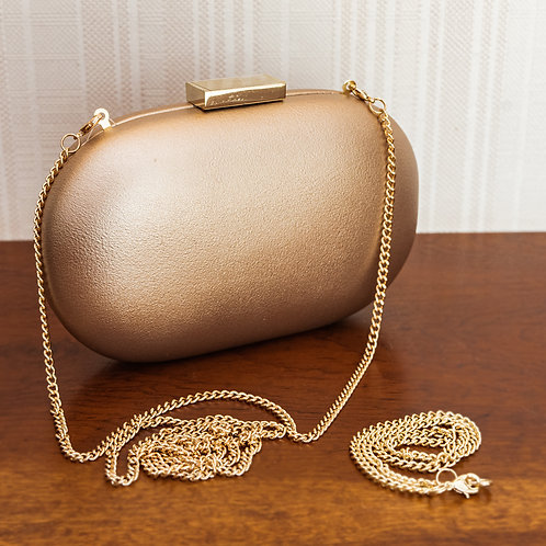 Clutch Oval Couro