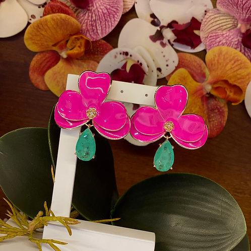 Brinco Orquídea Pink Fusion