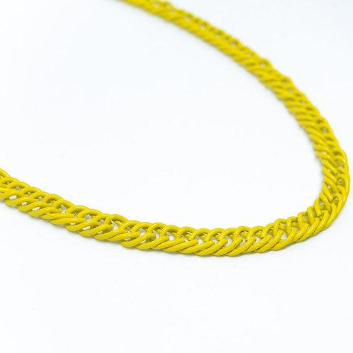 Colar Elos Triplos Yellow