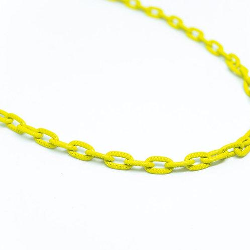 Colar Elos Menores Com Detalhes Yellow