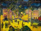 Toulouse années 50.Tempéra sur papier.62,5 x 47,5 cm