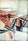 Abstrait. Huile sur toile. 1952. 55x38 cm.
