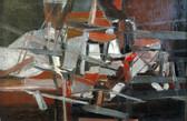 Abstrait. 1952. Huile sur toile. 40x60,5cm