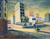 Chantier de Malakoff. 1974. Tempéra sur papier. 44 x 55,5 cm