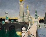 Le pont Alexandre III. 1968. Huile sur kraft. 80 x 85 cm
