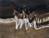Abstrait. 1959. Huile sur kraft. 74 x 54 cm
