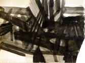 Abstrait. Années 50. Encre et lavis sur papier. 58 x 45 cm