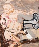 19 avril 1962. Huile sur kraft. 46 x 38 cm