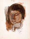 Elisabeth Jousselin, femme de l'artiste. Années 50. Encre sur papier. 32,5 x 25 cm
