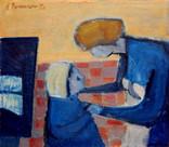 Collection Paule Delepine 70 x 55 Huile sur bois 1950
