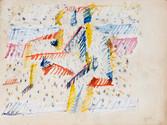 Le couple. 1951. Gouache sur papier31,5 x 24 cm