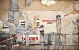 Sous sol-Danger. 17 novembre 1971. Huile sur toile. 50 x 76 cm