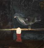 Le pigeon. 1967. Huile sur kraft. 66 x 61 cm