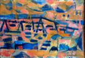 Vagues et barques à St Tropez 5 octobre 1950 Collection Cecile Lalanne