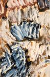 Abstrait. 1960. Huile sur kraft. 46 x 37,5 cm