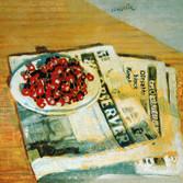 Cerises. Huile sur toile. 61 x 54 cm. 1992. Collection ObaShizuoka Japon