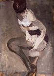 Lingerie fine. Avril 1966. Huile sur kraft.  69 x 49 cm.