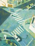 Rue de Vanves. Années 70. Tempéra sur papier. 56 x 43,5 cm