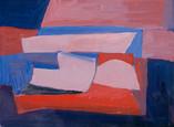 Abstrait. Années 50. Gouache sur papier. 23 x 17 cm