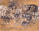 Abstrait. Années 60. Huile sur carton. 55 x 43,5 cm