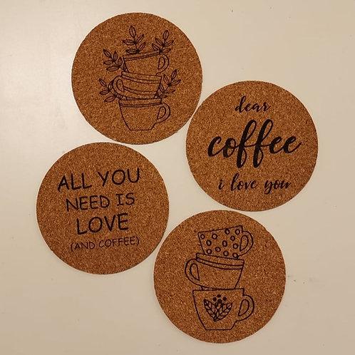 """Korkuntersetzer """"coffee"""""""