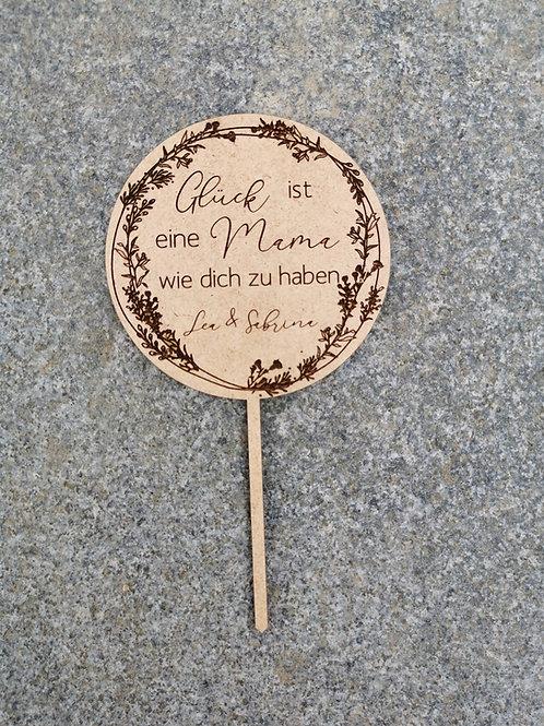 """Blumenstecker / Caketopper """"Dankeschön Mama"""""""