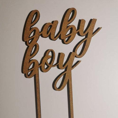 "Caketopper ""Hello Baby"""