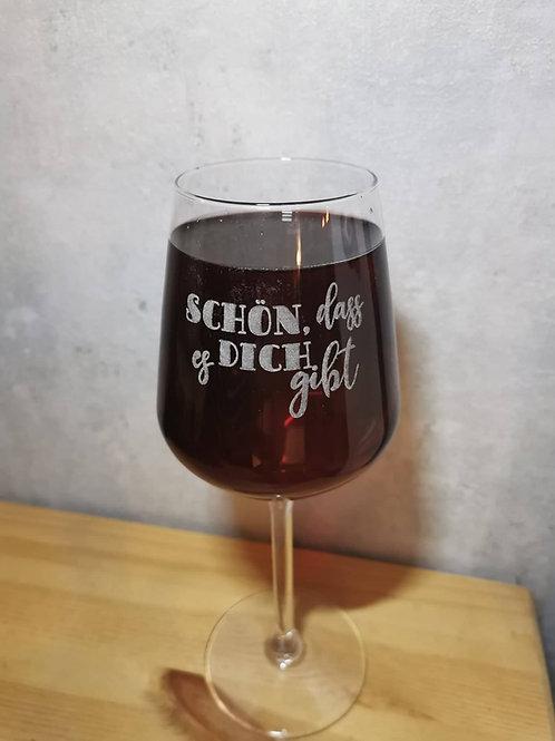 Personalisiertes Weinglas