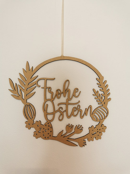 "Holzschild ""Frohe Ostern"""